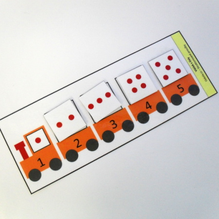 Vláček s čísly