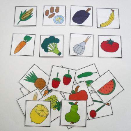 Naučné kartičky - Ovoce a zelenina