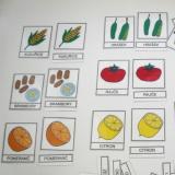 Třísložkové karty - Ovoce a zelenina