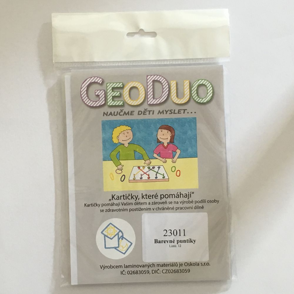 Barevné puntíky - předloha GeoDuo