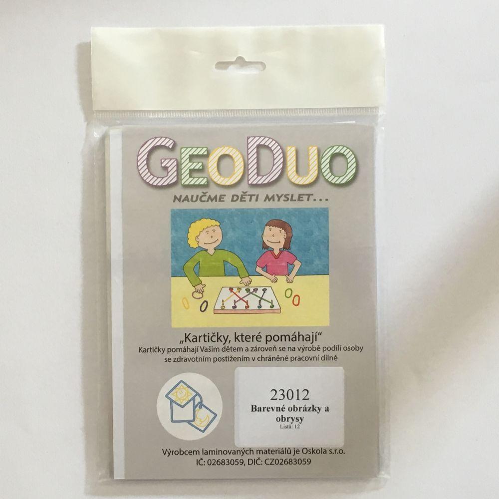 Barevné obrázky a obrysy - předloha GeoDuo