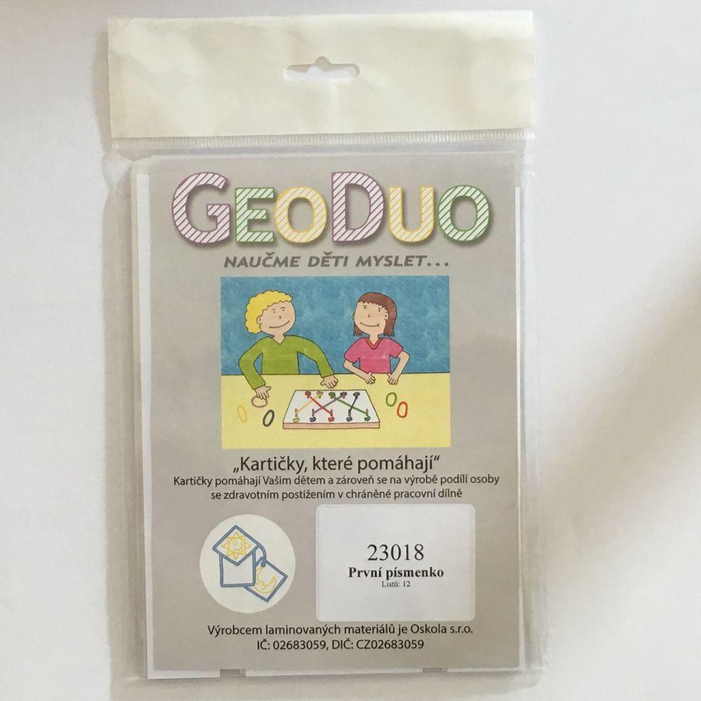 První písmenko - předloha GeoDuo