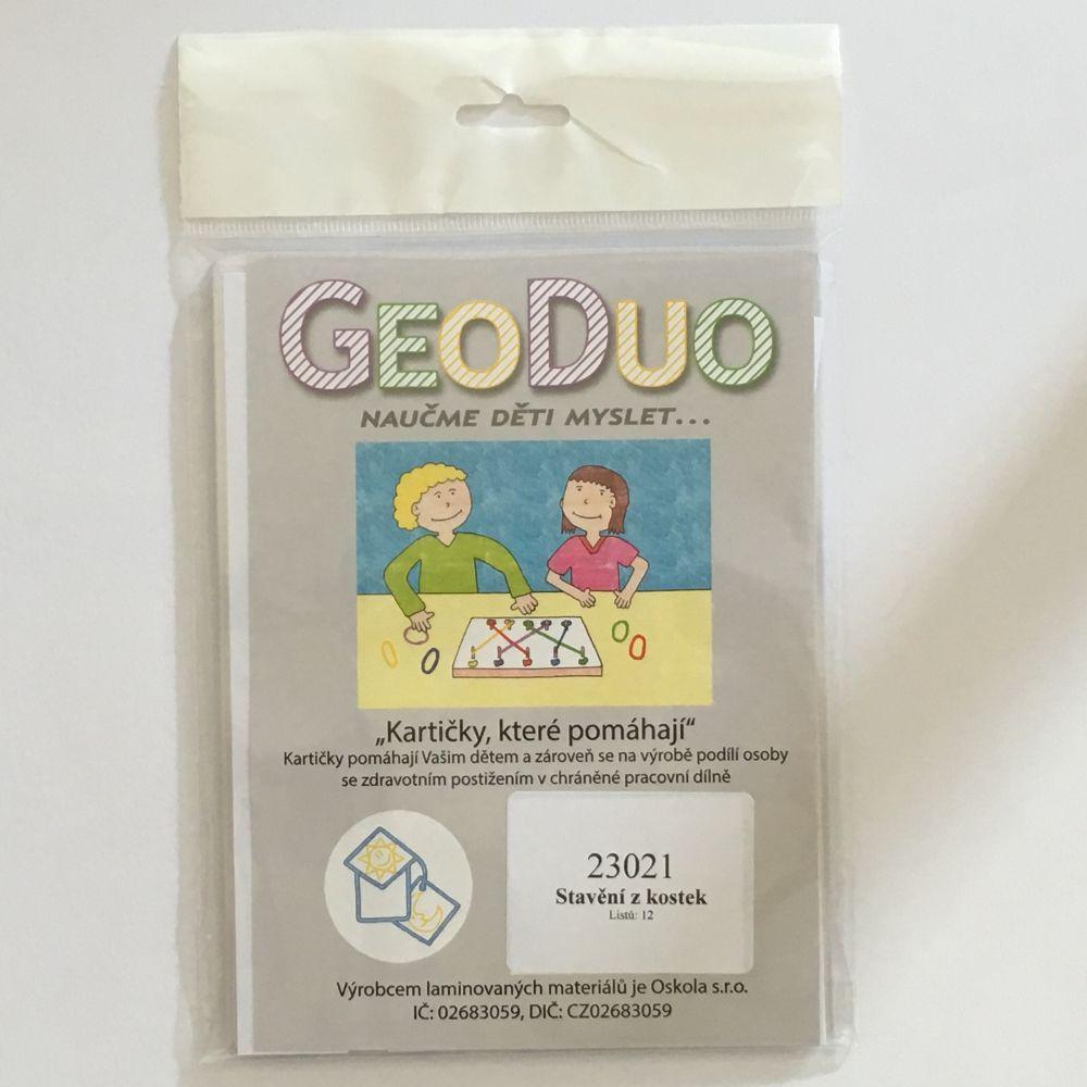 Stavění z kostek - předloha GeoDuo