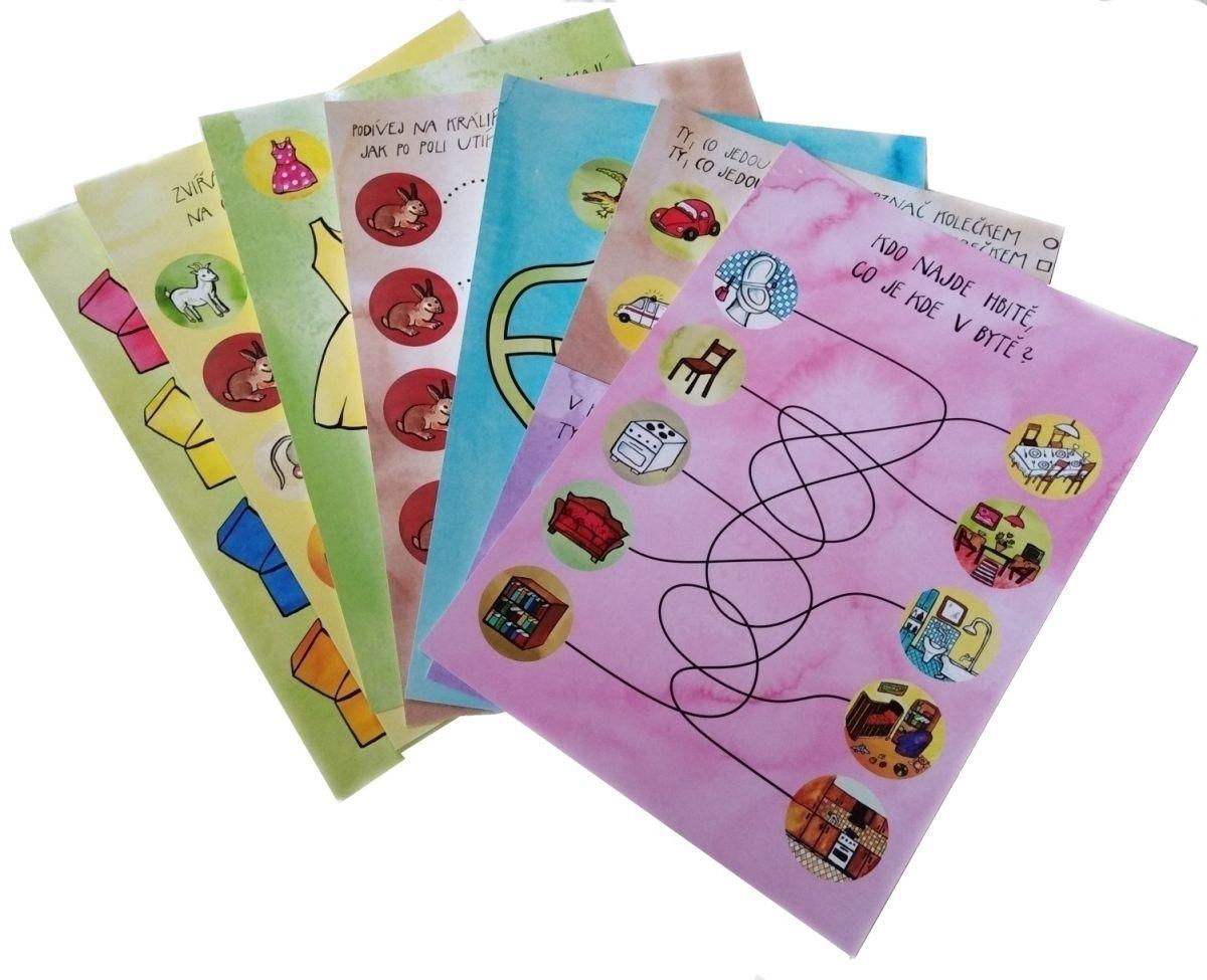 Malý předškolák 1 - příprava na psaní - sada stíratelné pracovní podložky